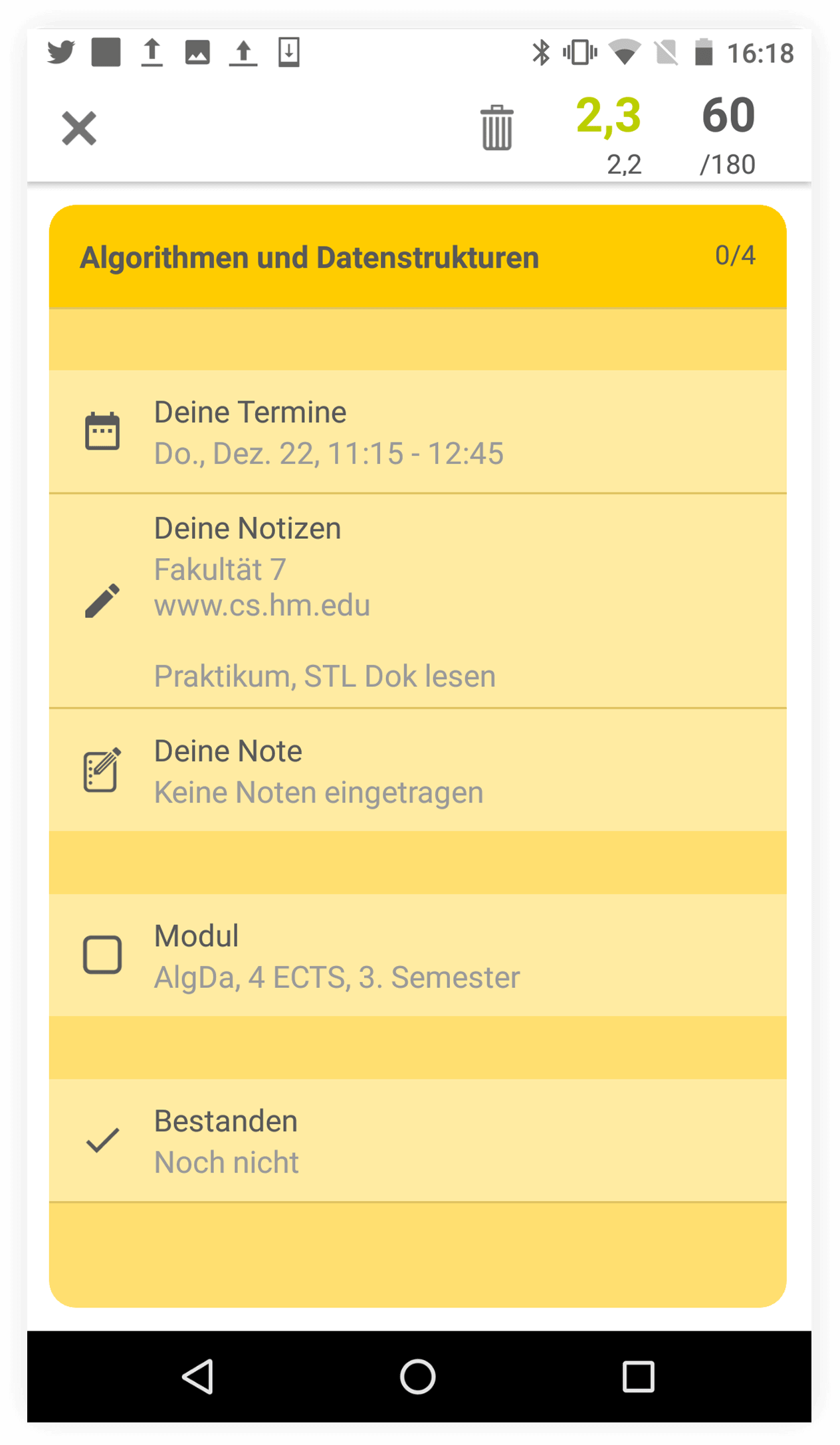 Module app Android screenshot