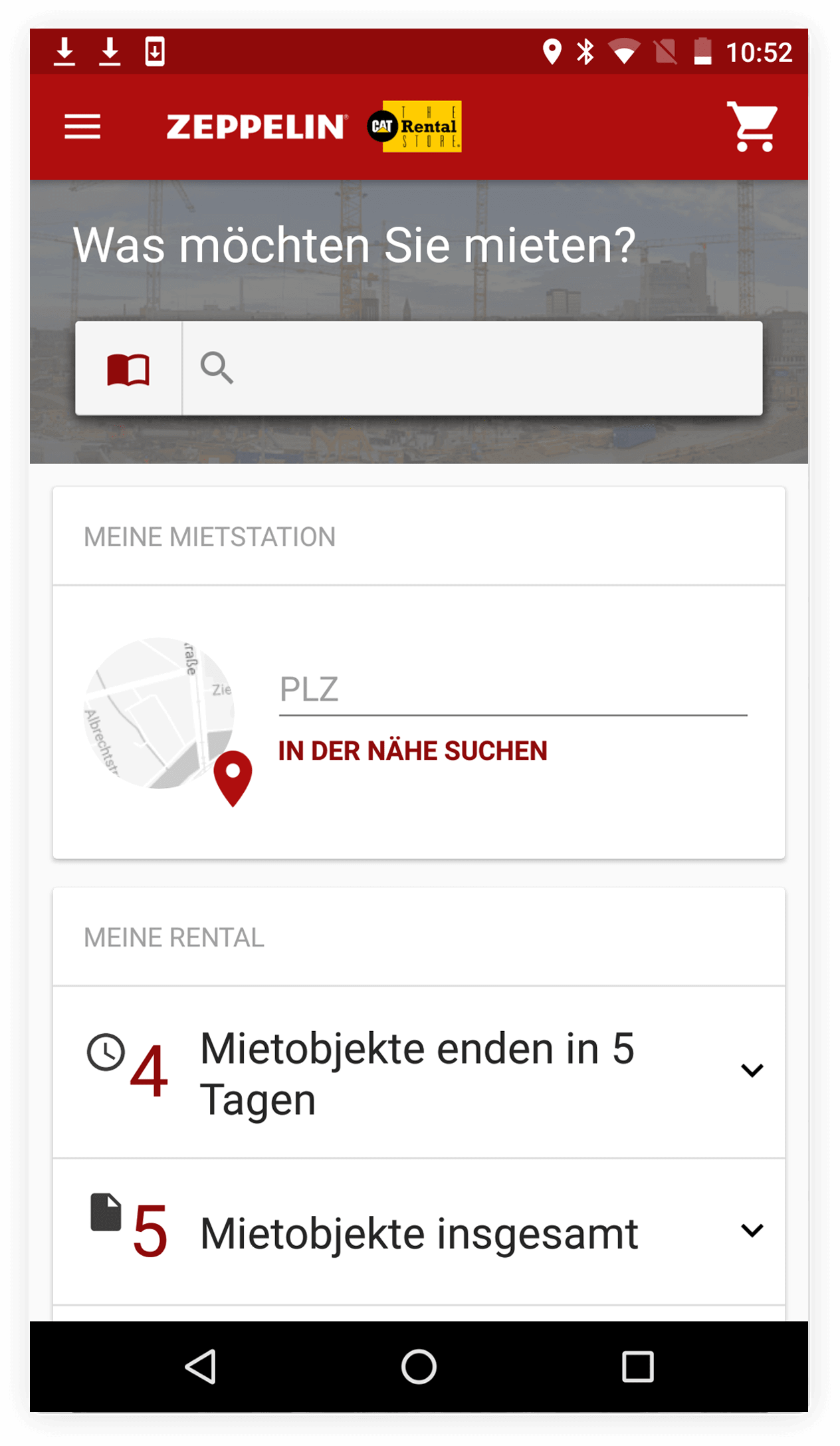 Zeppelin app Android screenshot